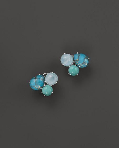IPPOLITA - Sterling Silver Rock Candy® Cluster Stud Earrings in Blue Multi
