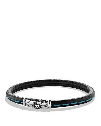 David Yurman - Leather Bracelet in Blue