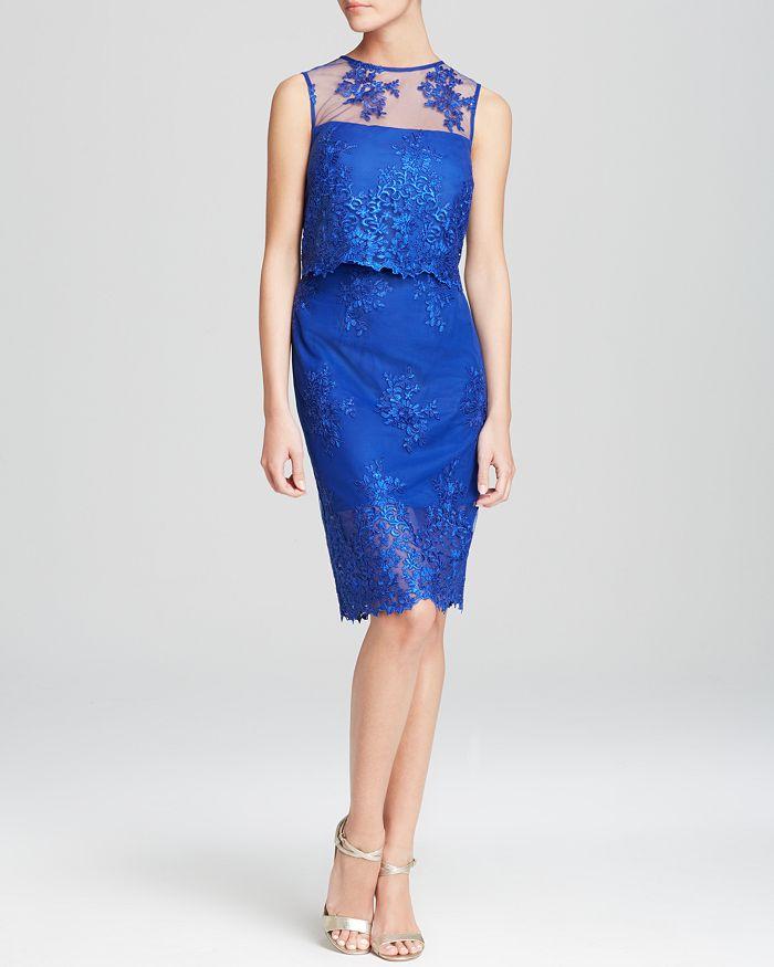 ML Monique Lhuillier - Dress - Sleeveless Lace Two-Piece