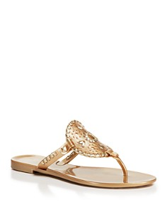 Jack Rogers - Flat Jelly Thong Sandals - Georgica
