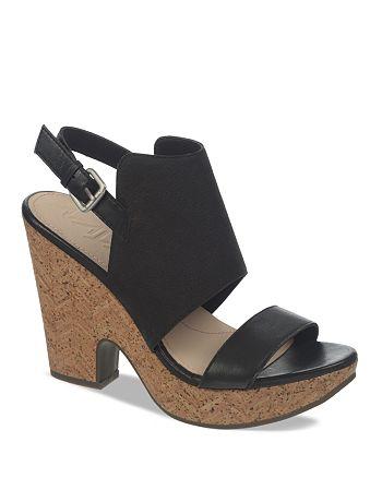 Naya - Women's Platform Sandals - Misty Two-Piece Cork High-Heel