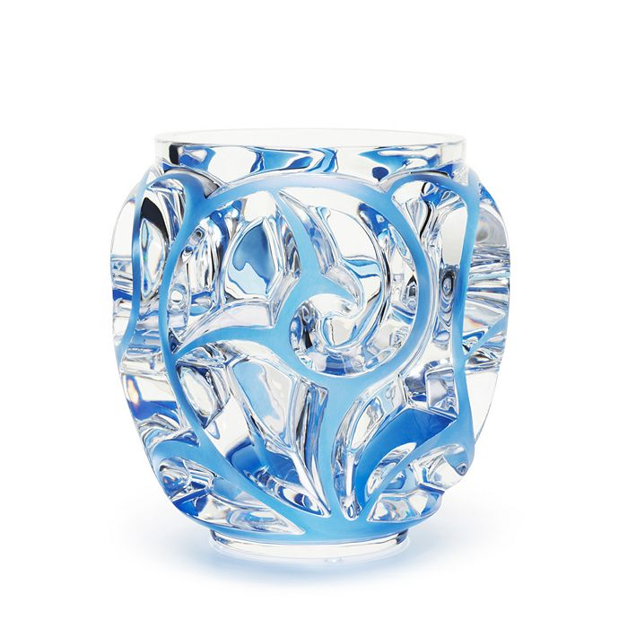 Lalique - Tourbillons Vase Small, Blue