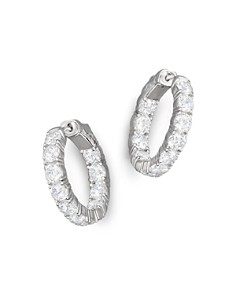 Bloomingdale's - Certified Diamond Inside-Out Hoop Earrings in 14K White Gold, 5.50 ct. t. w. - 100% Exclusive