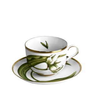 Anna Weatherley White Tulips Tea Saucer