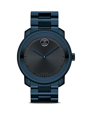 Movado Bold Large Watch with Navy Dial, 42.5mm-Jewelry & Accessories
