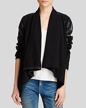 Blanknyc Jacket - Faux Leather Asymmetric Zip