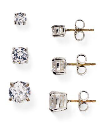 Mini Cubic Zirconia Stud Earrings