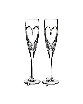 Waterford - True Love Flute, Set of 2