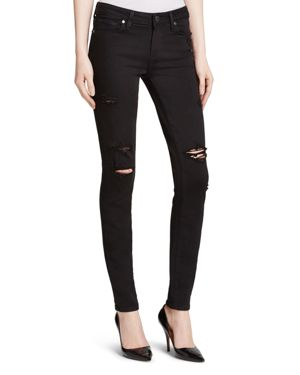 Paige Denim Destructed Verdugo Transcend Jeans in Black Shadow 1354460