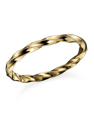 Roberto Coin 18K Yellow Gold Wave Bangle