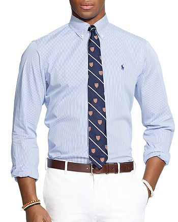 c015b840 Polo Ralph Lauren - Hairline-Striped Poplin Button-Down Shirt - Classic Fit