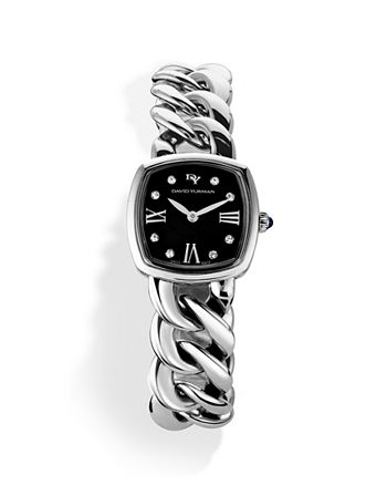 David Yurman - Albion Stainless Steel Watch with Diamonds, 23mm