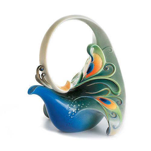 Franz Collection - Peacock Splendor Teapot