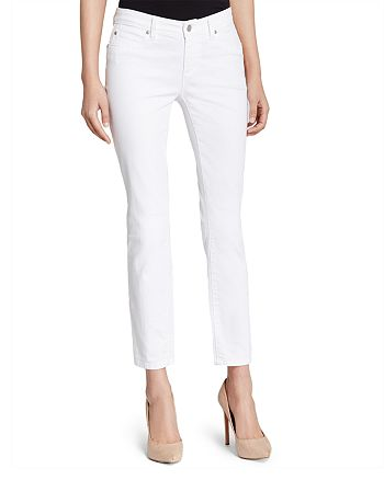 Eileen Fisher Petites - System Skinny Ankle Jeans in White, Regular & Petite