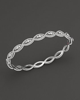 Roberto Coin - 18K White Gold New Barocco Diamond Bangle
