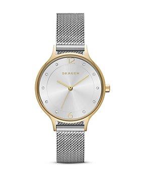 Skagen - Two-Tone Anita Mesh Bracelet Watch, 30mm