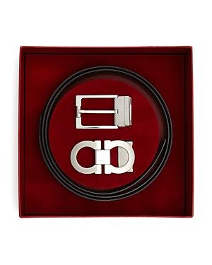 Salvatore Ferragamo Reversible Belt Gift Box in Silver