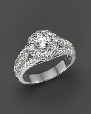 Diamond Engagement Ring in 14K White Gold, 1.75 ct. t.w. - 100% Exclusive