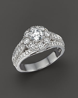 Click here for Diamond Engagement Ring in 14K White Gold  1.75 ct... prices