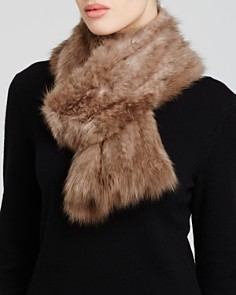 Maximilian Knitted Sable Scarf - Bloomingdale's_0