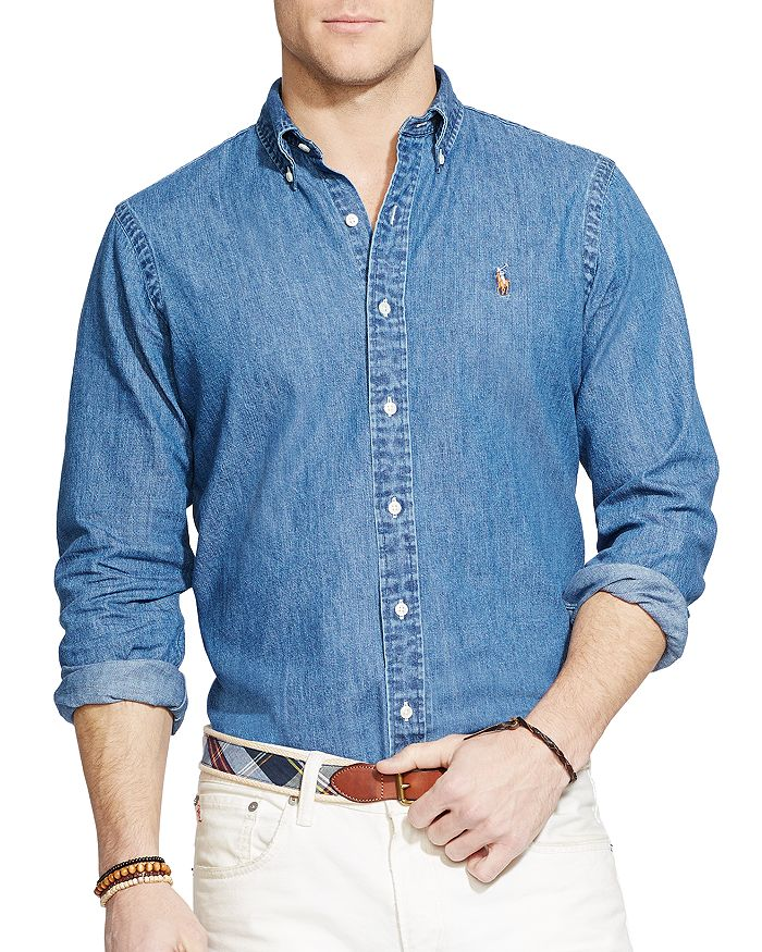 cadc41f2 Denim Button-Down Shirt - Classic Fit