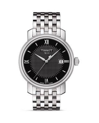 TISSOT Bridgeport Men'S Quartz Watch, 40Mm in Silver/ Black/ Silver