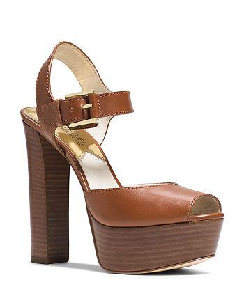 MICHAEL Michael Kors - London Peep Toe Platform Sandals