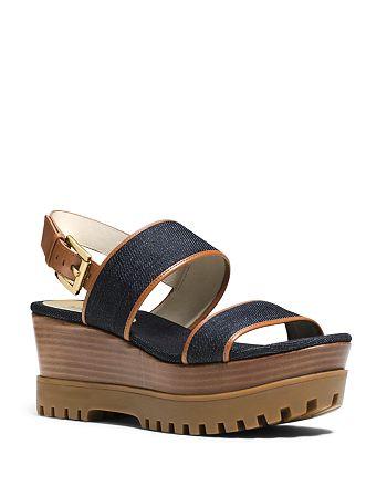 53318964911 MICHAEL Michael Kors Gillian Platform Wedge Sandals | Bloomingdale's