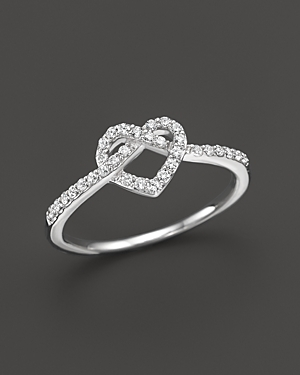 Diamond Heart Knot Ring in 14K White Gold, .25 ct. t.w. - 100% Exclusive
