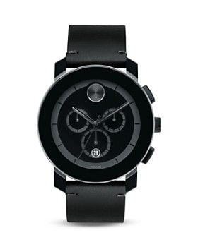 Movado BOLD - Movado BOLD Large Black TR90 and Stainless Steel Chronograph, 42mm