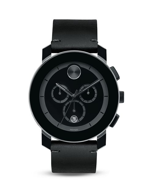 Movado BOLD - Large Black TR90 and Stainless Steel Chronograph, 42mm