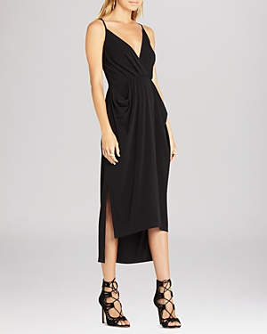 BCBGeneration Faux Wrap Midi Dress