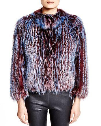 Maximilian Furs - Feathered Fox Coat - 100% Exclusive
