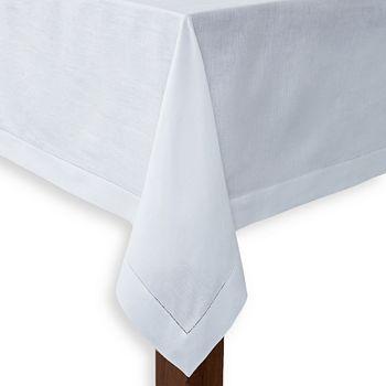 """SFERRA - Classico Oblong Tablecloth, 120"""" Round"""