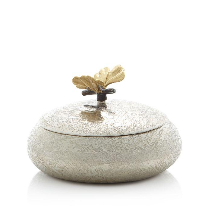 Michael Aram - Butterfly Ginkgo Round Trinket Box