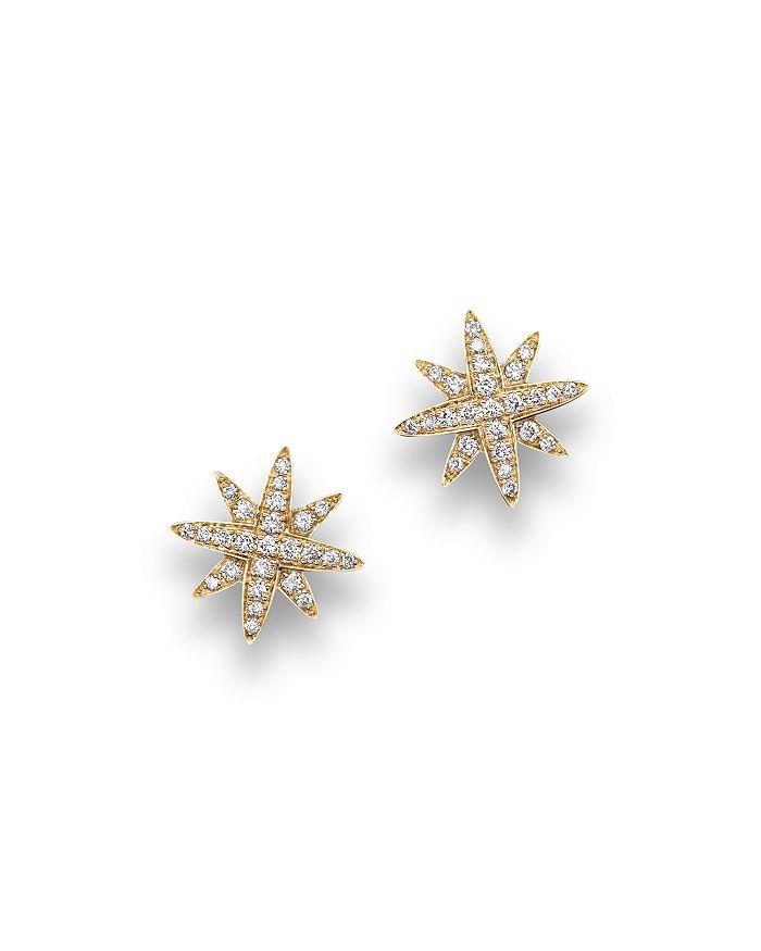 Bloomingdale's - Diamond Starburst Stud Earrings in 14K Yellow Gold, .25 ct. t.w.- 100% Exclusive