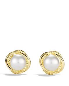 David Yurman Infinity Earrings With Pearls In Gold Bloomingdale S 0