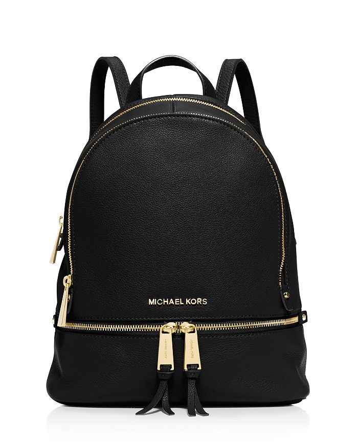 7d1fc97773fe MICHAEL Michael Kors Rhea Zip Small Leather Backpack | Bloomingdale's