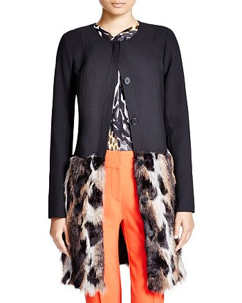 Trina Turk - Valerian Faux Fur Coat