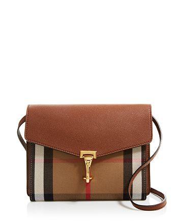34c7cf6579a2 Handbags.   Burberry - Macken House Check Small Crossbody