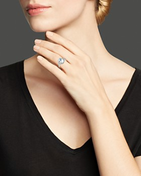 Bloomingdale's - Aquamarine and Diamond Ring in 14K White Gold - 100% Exclusive
