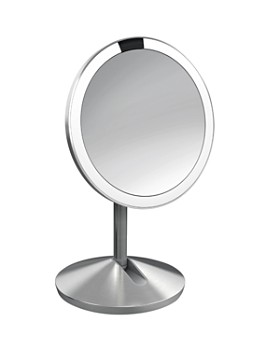 "simplehuman - Mini Sensor Makeup Mirror with Travel Case, 5"", 10x Magnification"