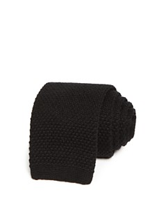 The Men's Store at Bloomingdale's Solid Knit Skinny Tie_0