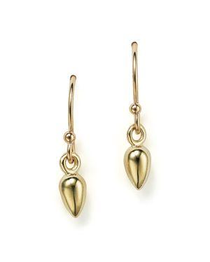 Zoe Chicco 14K Gold Bullet Drop Earrings
