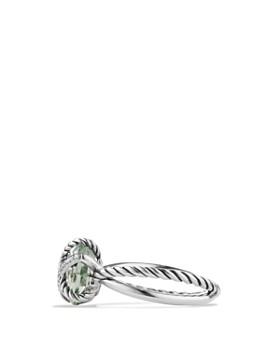 David Yurman - Petite Cable Wrap Ring with Prasiolite and Diamonds
