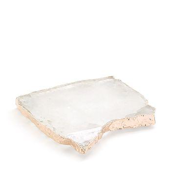 ANNA new york - Crystal & Rose Gold Kivita Coasters, Set of 2