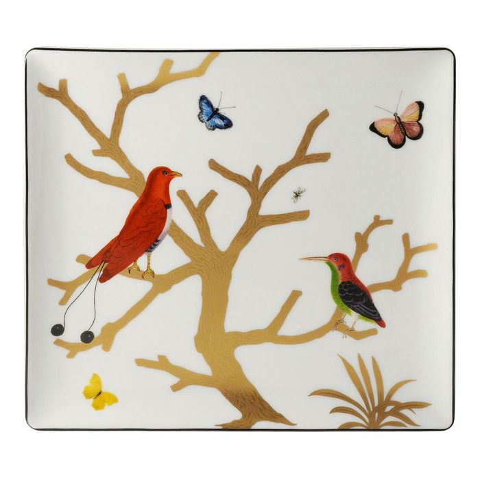 Bernardaud - Aux Oiseaux Porcelain Rectangular Tray