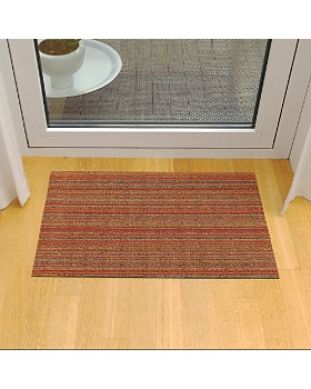 "Chilewich - Skinny Stripe Indoor/Outdoor Shag Mat, 24"" x 36"""
