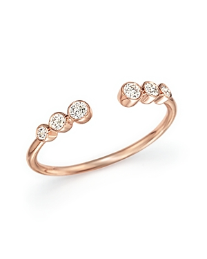 Diamond Bezel Ring in 14K Rose Gold, .20 ct. t.w. - 100% Exclusive