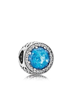 PANDORA Moments Collection Sterling Silver, Crystal Sky Blue & Cubic Zirconia Radiant Hearts Charm - Bloomingdale's_0